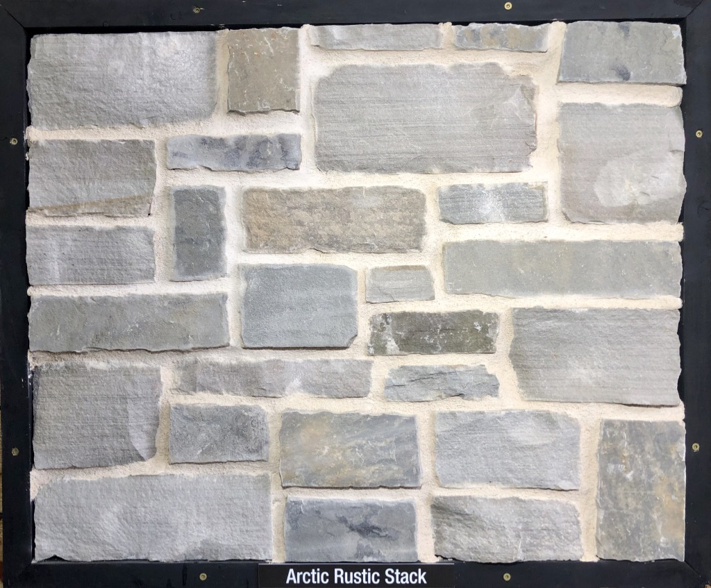 Arctic Rustic Stack Exterior Stone Sample by Lamb Stone