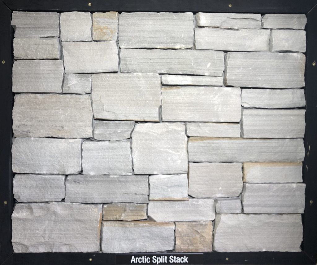 Arctic Split Stack Exterior Stone Sample by Lamb Stone