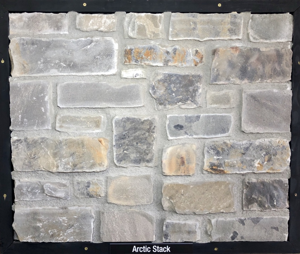 Arctic Stack Exterior Stone Sample by Lamb Stone