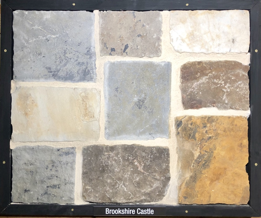 Brookshire Castle Exterior Stone Sample by Lamb Stone