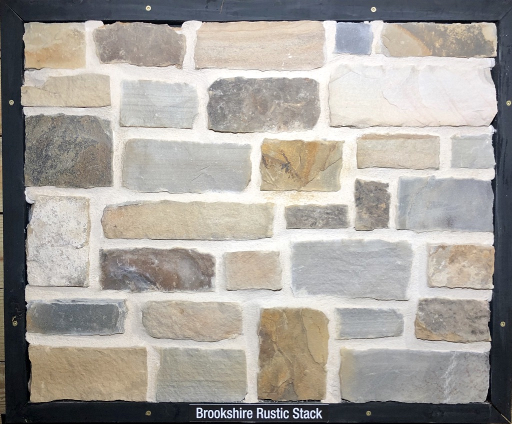 Brookshire Rustic Stack Exterior Stone Sample by Lamb Stone
