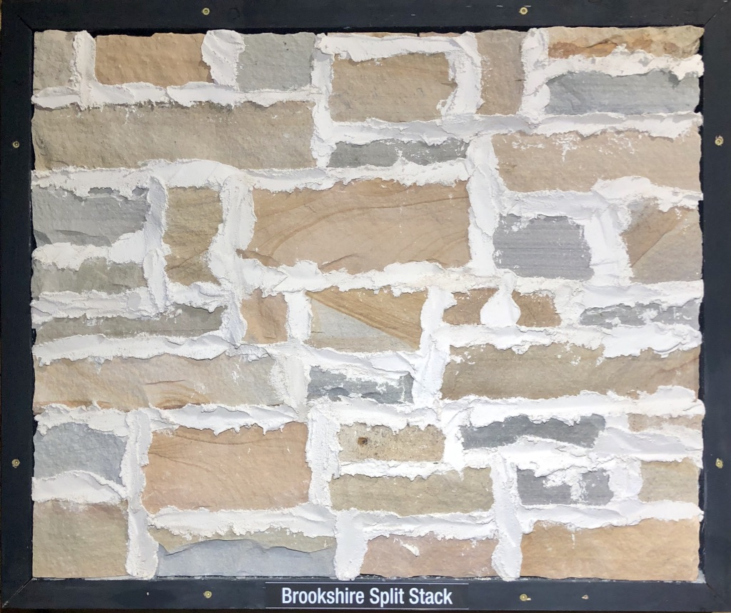 Brookshire Split Stack Exterior Stone Sample by Lamb Stone