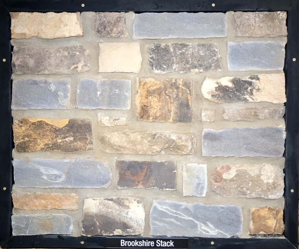 Brookshire Stack Exterior Stone Sample by Lamb Stone