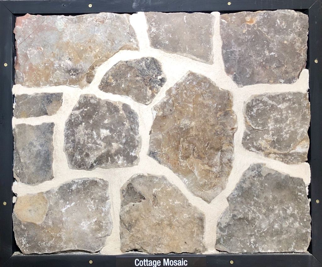 Cottage Mosaic Exterior Stone Sample by Lamb Stone