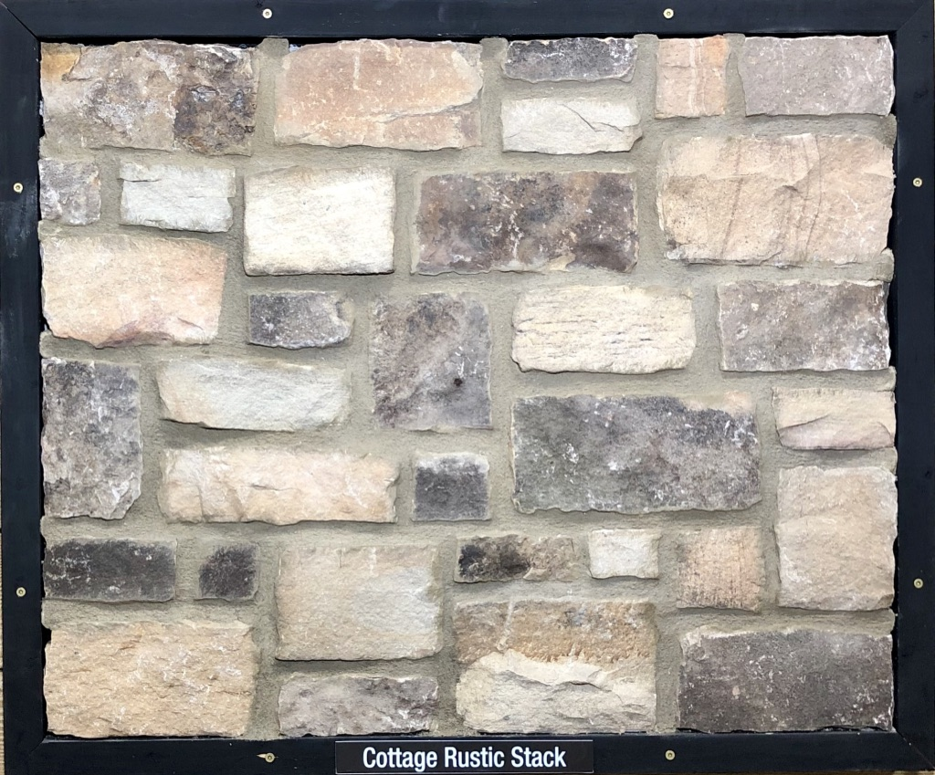 Cottage Rustic Stack Exterior Stone Sample by Lamb Stone