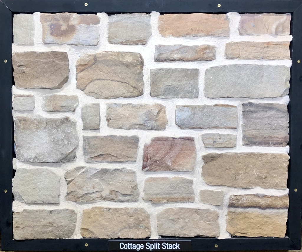 Cottage Split Stack Exterior Stone Sample by Lamb Stone
