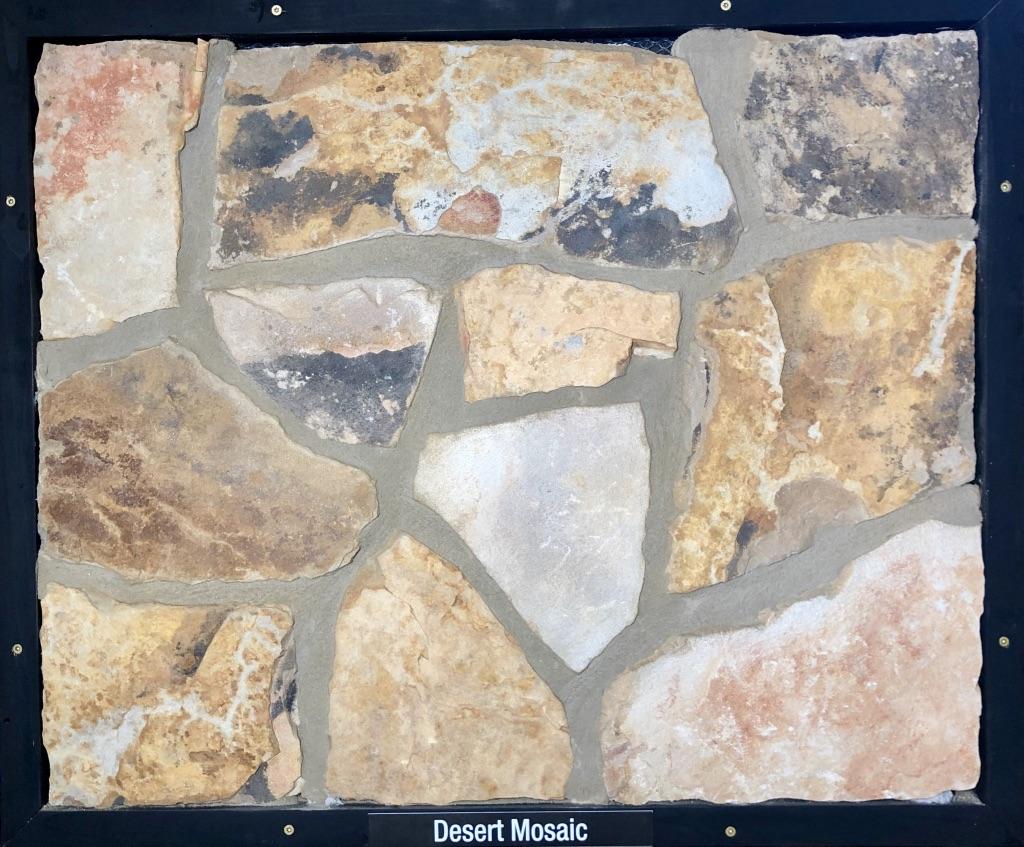 Desert Mosaic Exterior Stone Sample by Lamb Stone