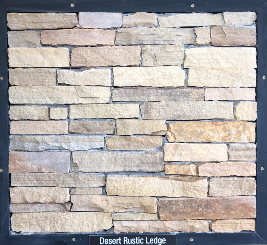 Special Desert Rustic Ledge Exterior Stone Sample by Lamb Stone