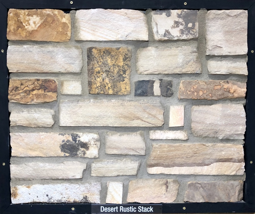 Desert Rustic Stack Exterior Stone Sample by Lamb Stone