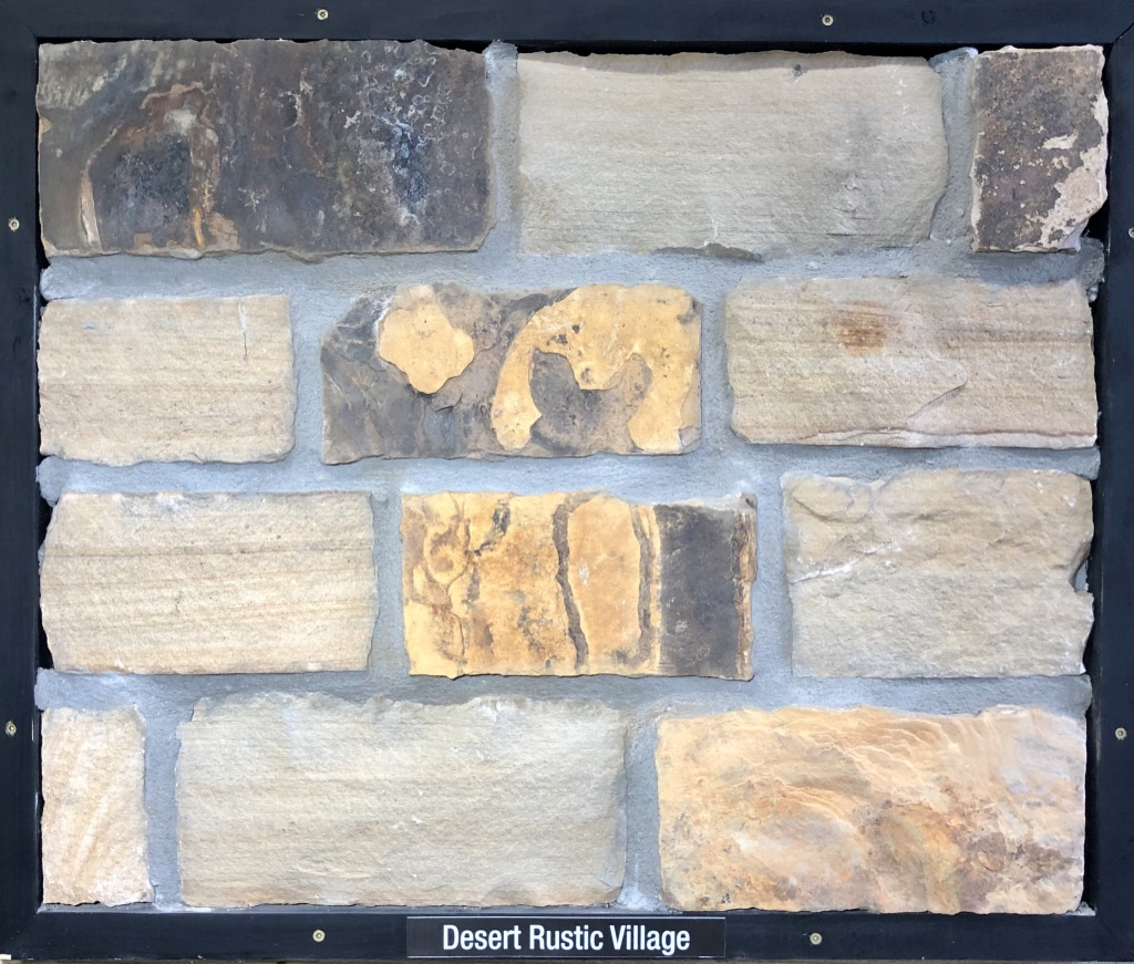 Desert Rustic Village Exterior Stone Sample by Lamb Stone