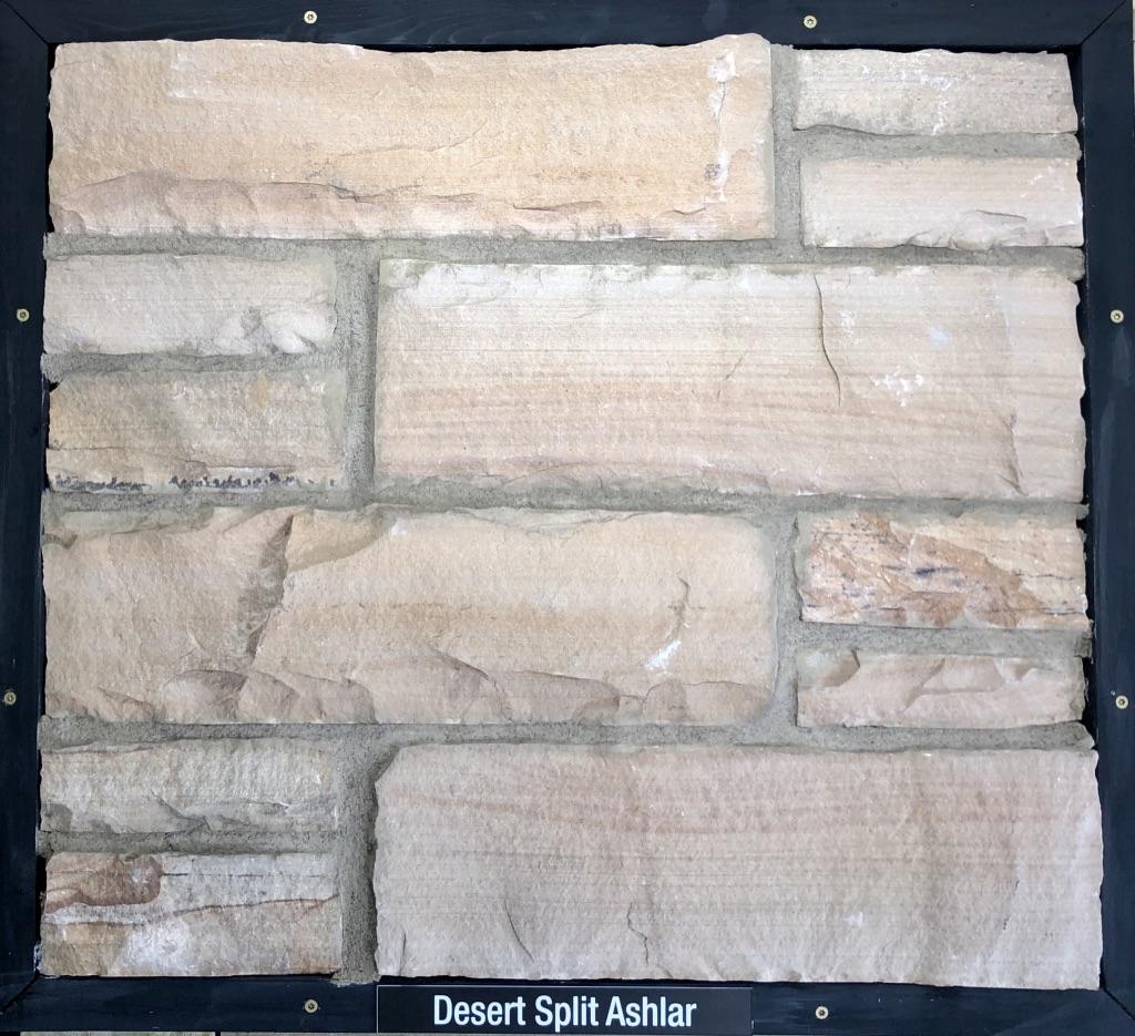 Desert Split Ashlar Exterior Stone Sample by Lamb Stone