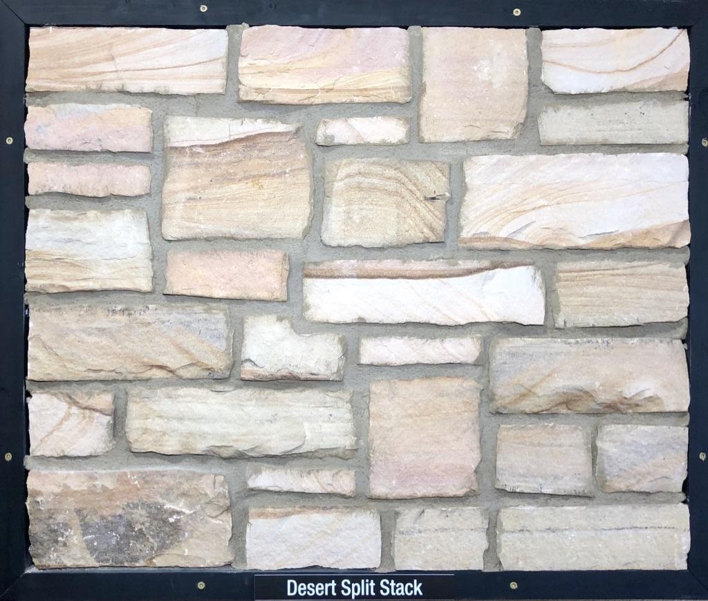 Desert Split Stack Exterior Stone Sample by Lamb Stone