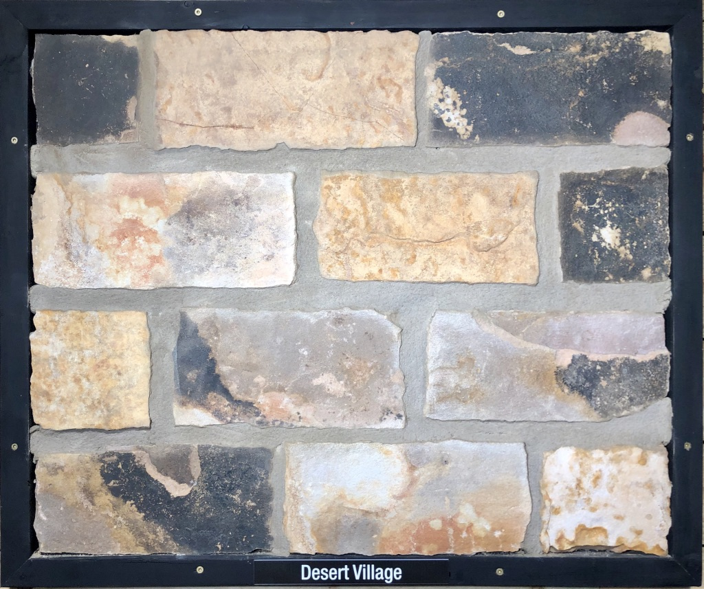 Desert Village Exterior Stone Sample by Lamb Stone