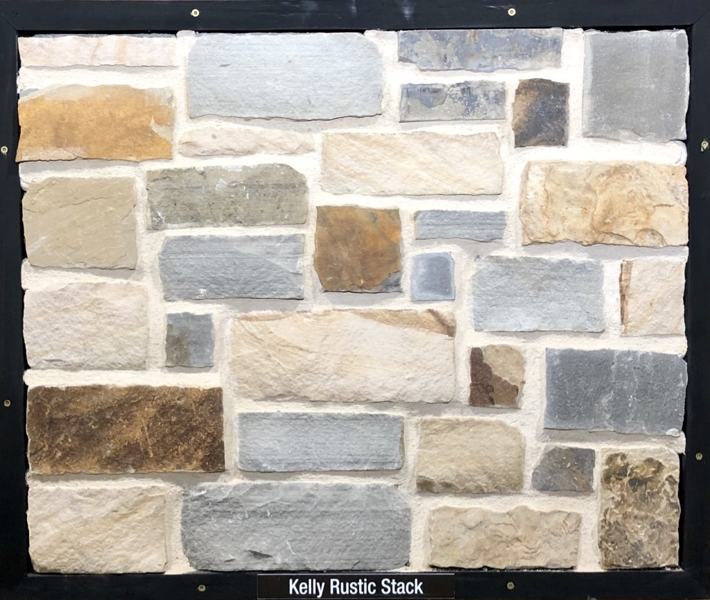 Kelly Rustic Stack Exterior Stone Sample by Lamb Stone