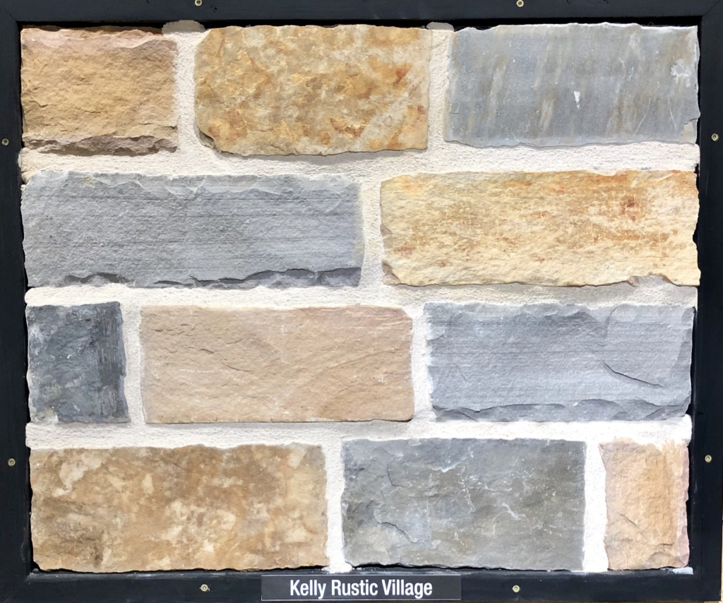 Kelly Rustic Village Exterior Stone Sample by Lamb Stone