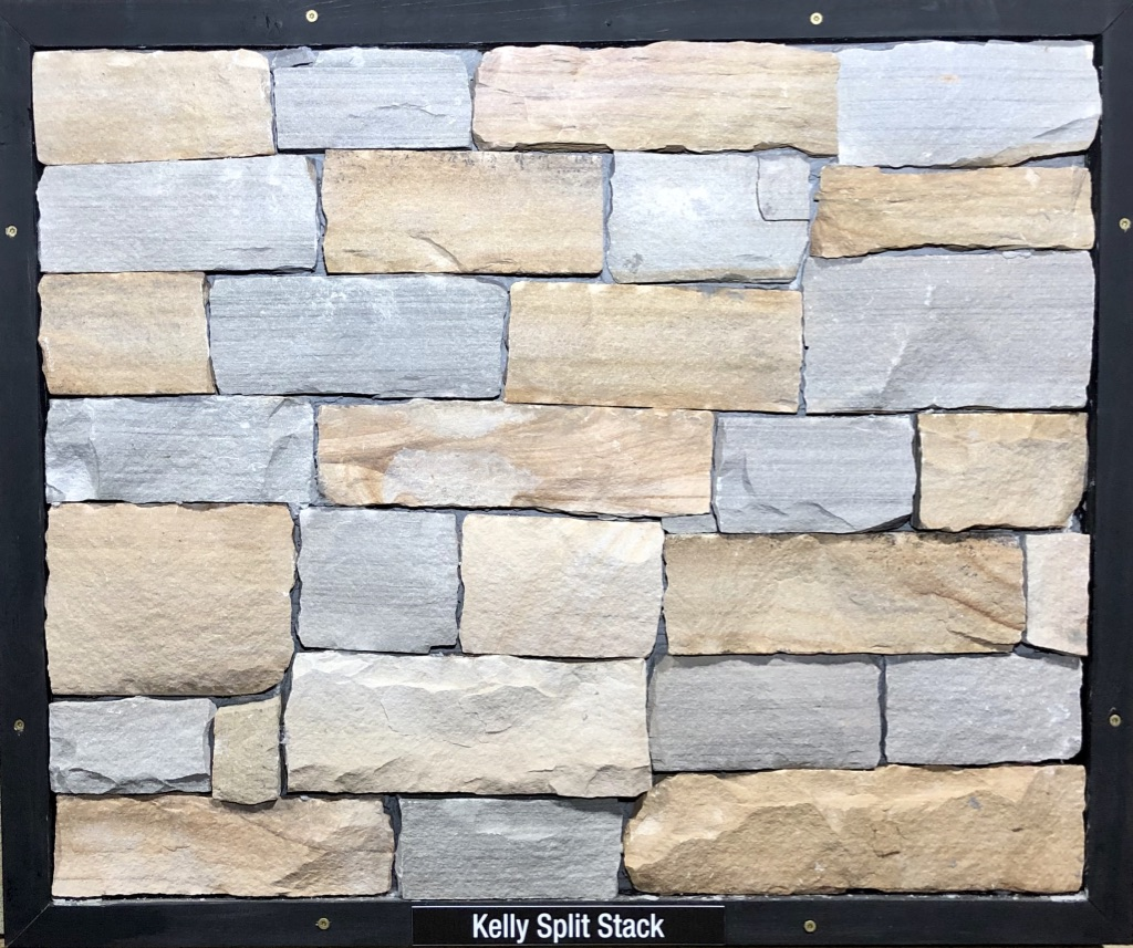 Kelly Split Stack Exterior Stone Sample by Lamb Stone
