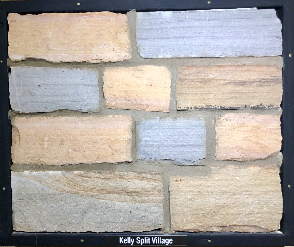 Kelly Split Village Exterior Stone Sample by Lamb Stone