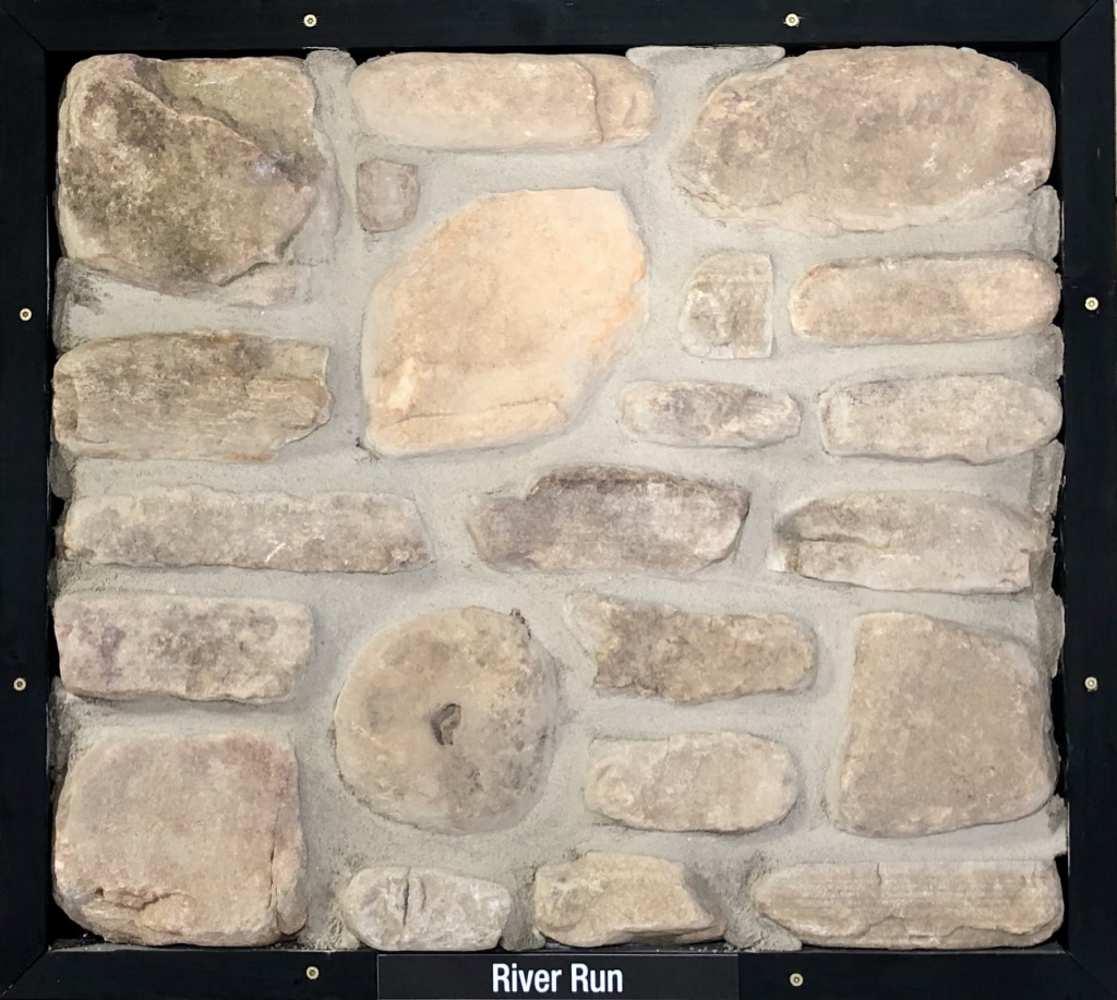 Special River Run Exterior Stone Sample by Lamb Stone