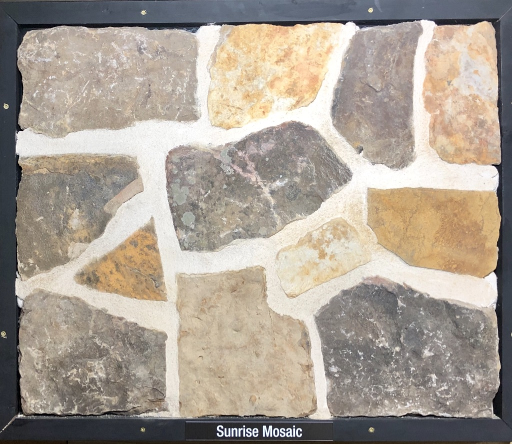 Sunrise Mosaic Exterior Stone Sample by Lamb Stone