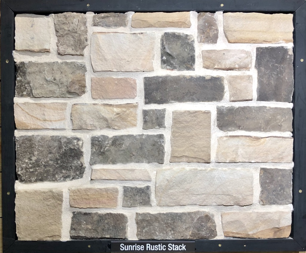 Sunrise Rustic Stack Exterior Stone Sample by Lamb Stone