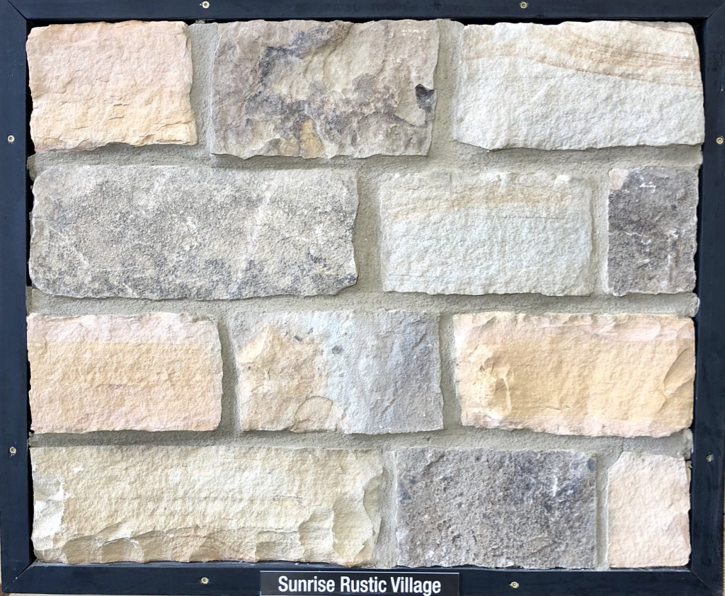 Sunrise Rustic Village Exterior Stone Sample by Lamb Stone