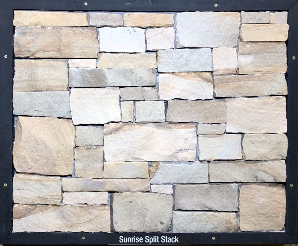 Sunrise Split Stack Exterior Stone Sample by Lamb Stone