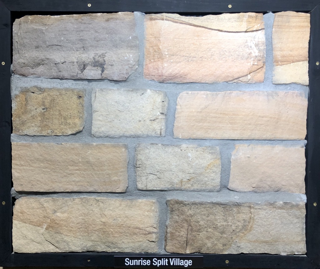 Sunrise Split Village Exterior Stone Sample by Lamb Stone