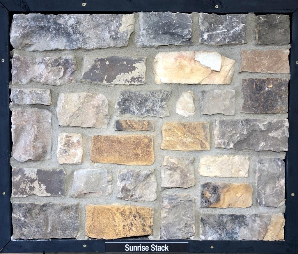 Sunrise Stack Exterior Stone Sample by Lamb Stone