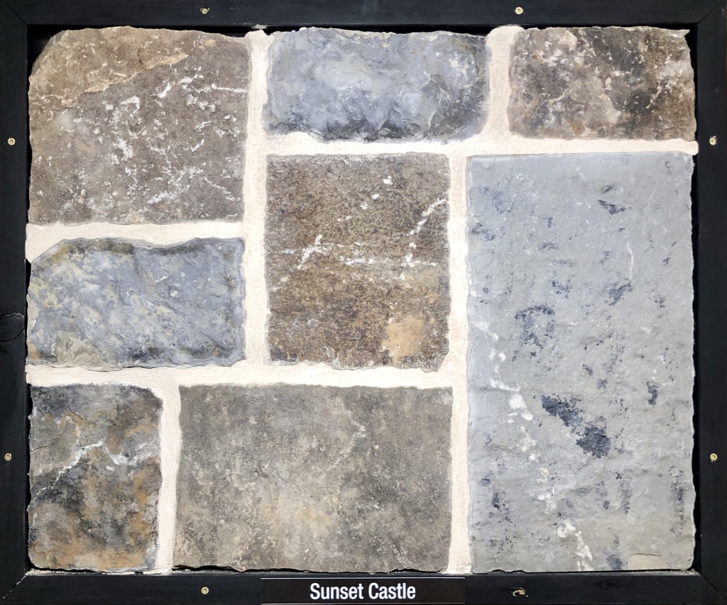 Sunset Castle Exterior Stone Sample by Lamb Stone