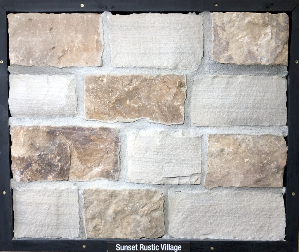 Sunset Rustic Village Exterior Stone Sample by Lamb Stone