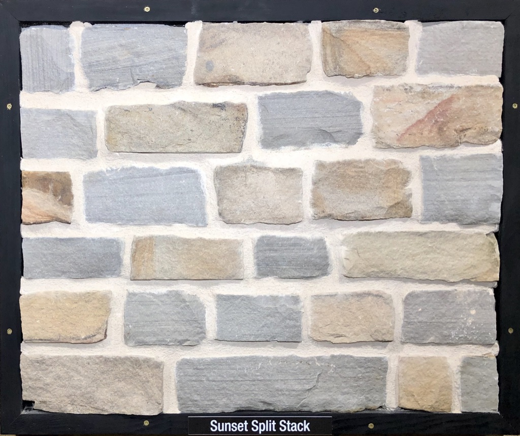 Sunset Split Stack Exterior Stone Sample by Lamb Stone