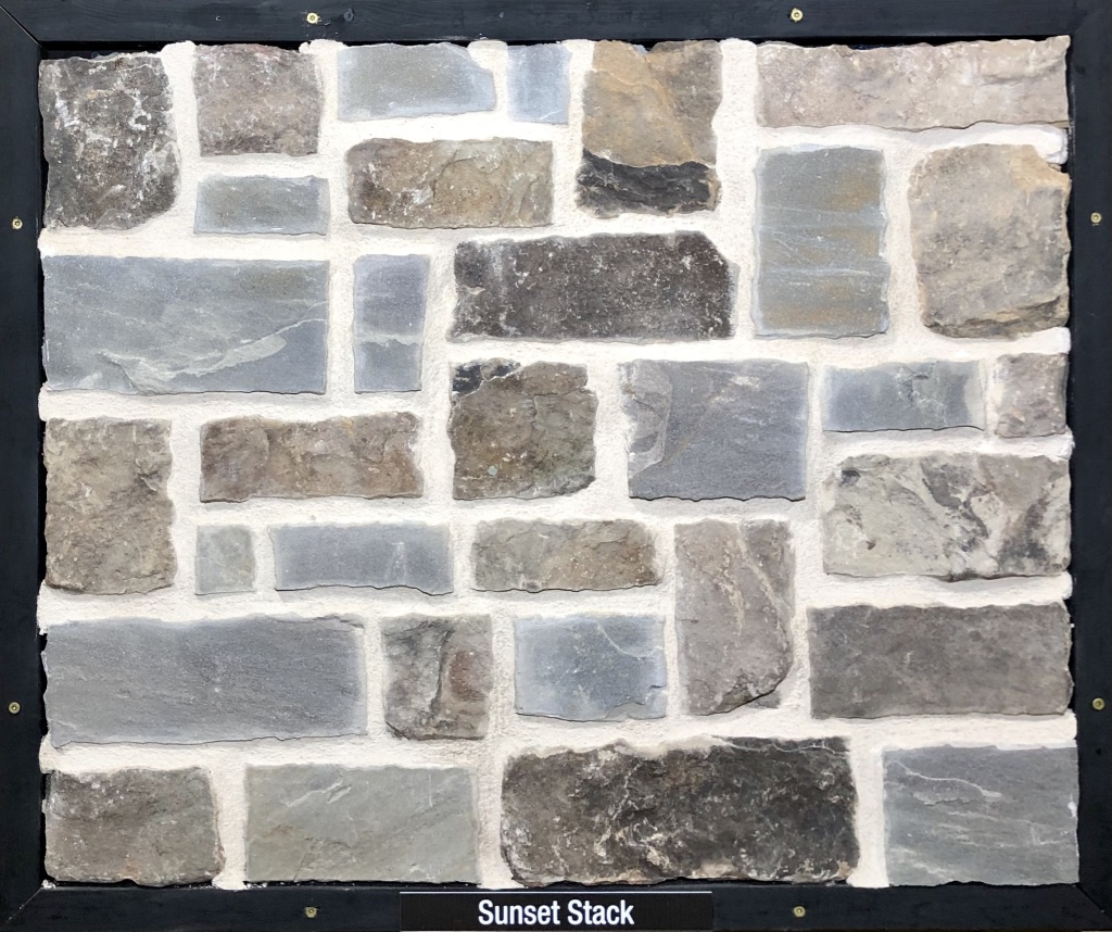 Sunset Stack Exterior Stone Sample by Lamb Stone