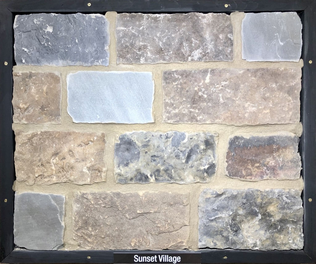 Sunset Village Exterior Stone Sample by Lamb Stone