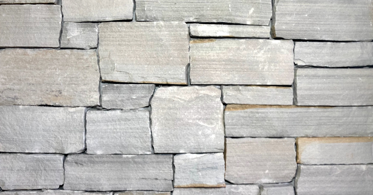 Arctic Split Stack Exterior Stone Pattern by Lamb Stone