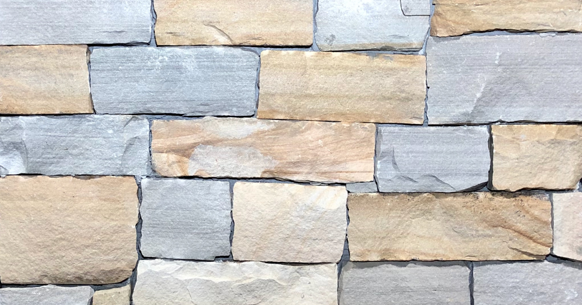 Kelly Split Stack Exterior Stone Pattern by Lamb Stone