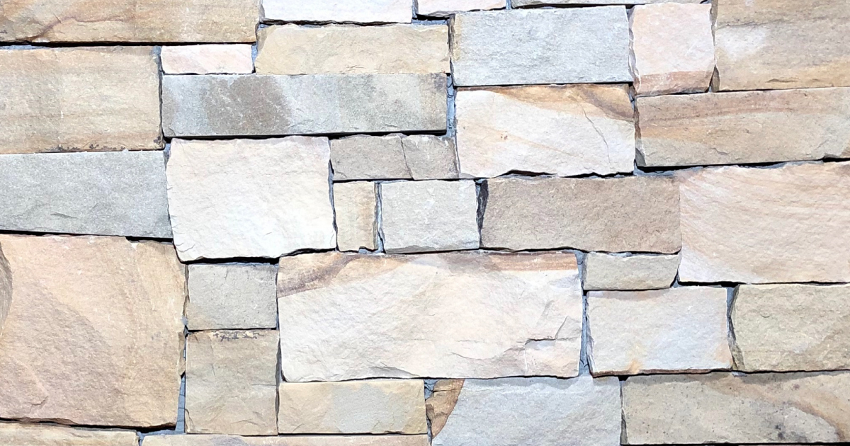 Sunrise Split Stack Exterior Stone Pattern by Lamb Stone