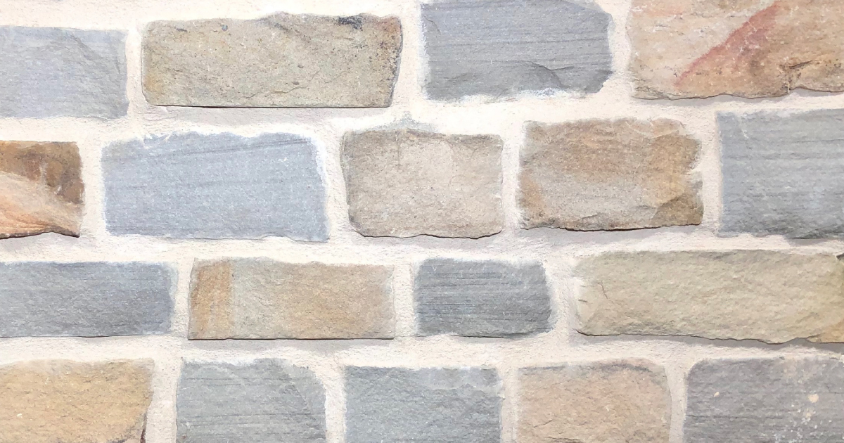Sunset Split Stack Exterior Stone Pattern by Lamb Stone