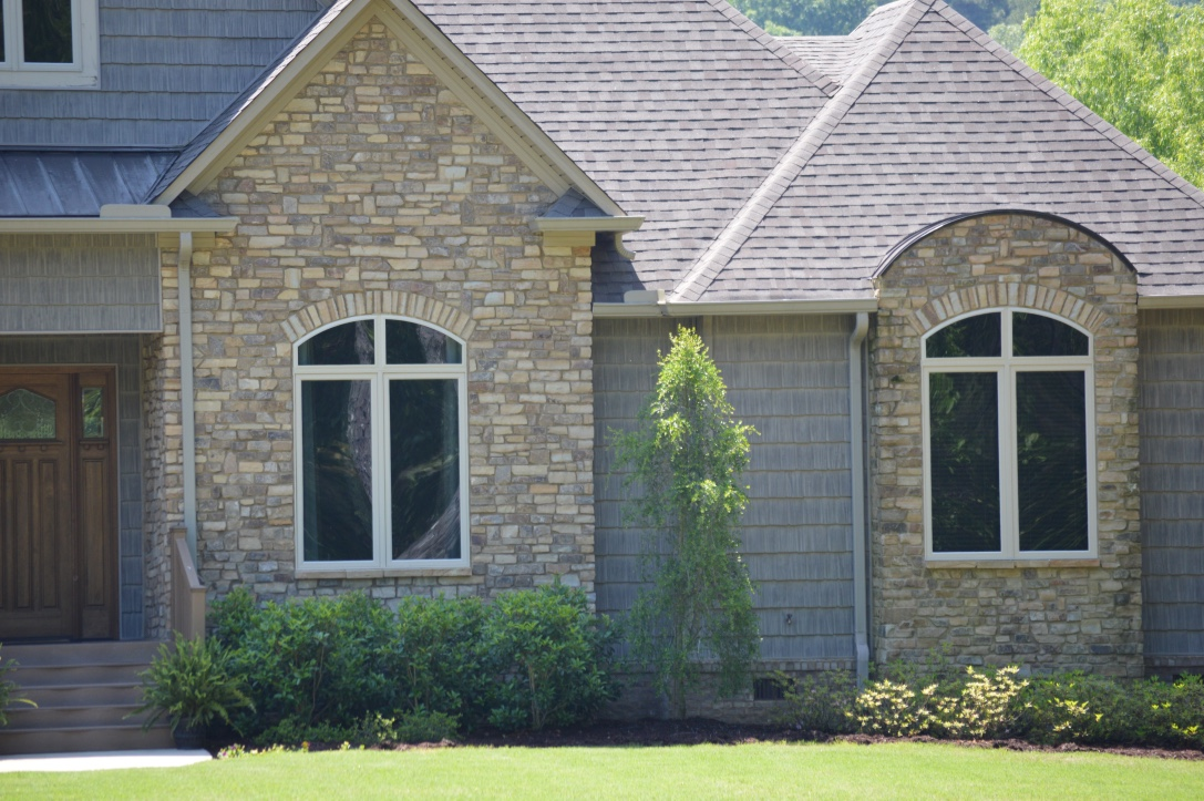 Cottage Rustic Stack Exterior Stone installed on a private residence - Real Rock - Lamb Stone
