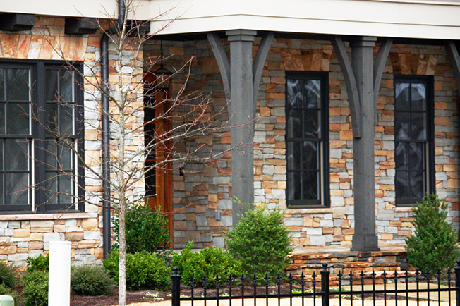 Kelly Rustic Stack Exterior Stone installed on a private residence - Real Rock - Lamb Stone